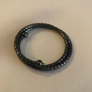 Jewelry - Sold!! Vintage hematite beaded wrap bracelet